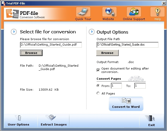 Free download PDF-File Conversion Software