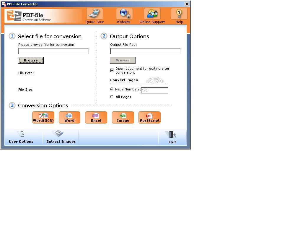PDF-File PDF Converter screenshot