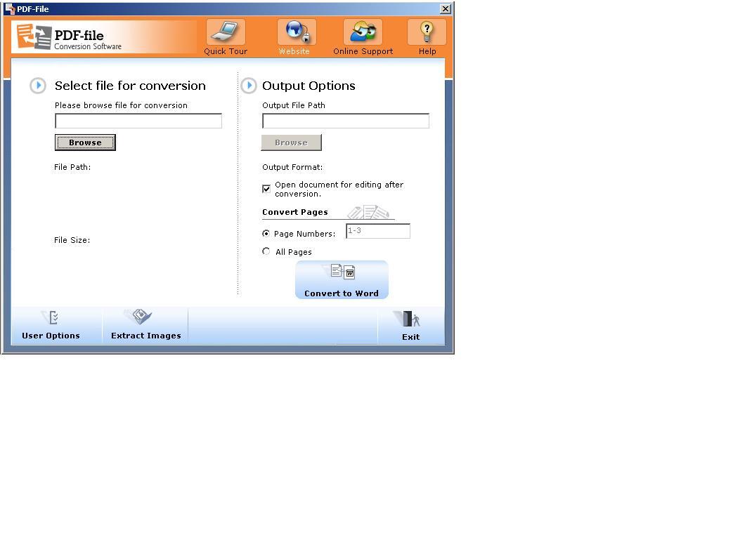 PDF-File PDF To Word Converter screenshot